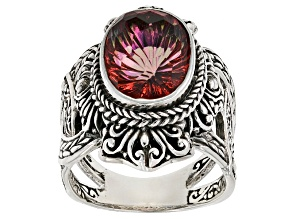 Pre-Owned Brilliant Eve™ Mystic Quartz® Silver Ring 5.19ctw