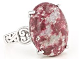 Pre-Owned Pink Thulite Sterling Silver Ring