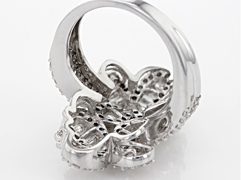 Pre-Owned Cubic Zirconia Silver Butterfly Ring 3.50ctw (3.19ctw DEW)