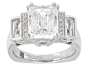 Pre-Owned White Cubic Zirconia Platineve Ring 7.49ctw
