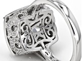Pre-Owned Cubic Zirconia Platineve Ring 9.26ctw (5.69ctw DEW)