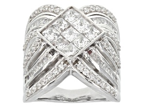 Pre-Owned Cubic Zirconia Silver Ring 5.37ctw (3.06ctw DEW)