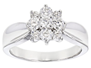 Pre-Owned Moissanite Platineve™ ring .70ctw DEW