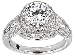 Pre-Owned White Cubic Zirconia Platineve Ring 5.40ctw