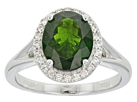 Pre-Owned Green Chrome Diopside Sterling Silver Ring 2.48ctw