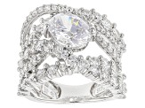 Pre-Owned Cubic Zirconia Silver Ring 6.83ctw (3.83ctw DEW)