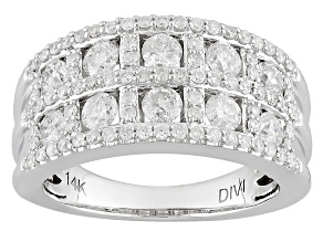 Pre-Owned White Diamond 14k White Gold Ring 1.50ctw
