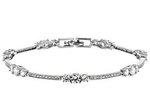 Pre-Owned Cubic Zircona Silver Bracelet 6.40ctw