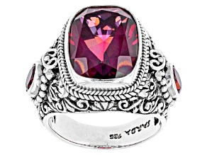 Pre-Owned Bee Pink™ Mystic Quartz® Silver Ring 6.92ctw