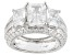 Pre-Owned White Cubic Zirconia Rhodium Over Silver Ring 10.96ctw
