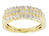 Pre-Owned Diamond 14k Yellow Gold Over Silver Ring .65ctw