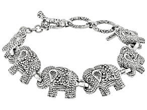Pre-Owned Sterling Silver Elephant Bracelet