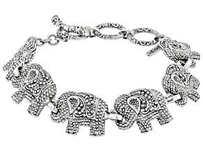 Pre-Owned Sterling Silver Elephant Bracelet