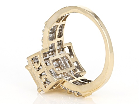 Pre-Owned White Diamond Ring 10k Yellow Gold .90ctw