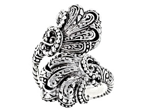 Pre-Owned Sterling Silver Filigree Fan Bypass Ring