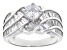 Pre-Owned White Cubic Zirconia Rhodium Over Sterling Silver Ring 13.18ctw