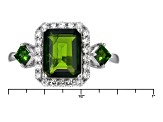 Pre-Owned Green Russian Chrome Diopside Sterling Silver Ring 3.25ctw