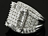 Pre-Owned Cubic Zirconia Silver Ring 5.35ctw (3.45ctw DEW)