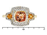 Pre-Owned Peach Oregon Sunstone 10k Yellow Gold Ring 1.44ctw
