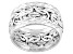 Pre-Owned 10k White Gold Hollow Byzantine Link Band Ring