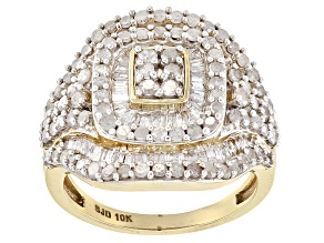Pre-Owned White Diamond 10k Yellow Gold Ring 2.05ctw