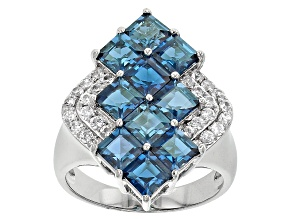 Pre-Owned London Blue Topaz Sterling Silver Ring 4.10ctw