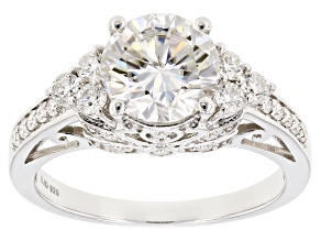 Pre-Owned Moissanite Platineve Ring 3.50ctw D.E.W