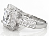 Pre-Owned White Cubic Zirconia Rhodium Over Sterling Silver Ring 3.75ctw