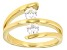 Pre-Owned Moissanite Ring 14k Yellow Gold Over Silver .66ctw DEW
