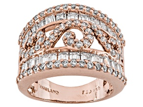 Pre-Owned Cubic Zirconia 18k Rose Gold Over Silver Ring 4.20ctw (2.48ctw DEW)