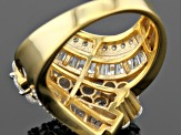 Pre-Owned Cubic Zirconia 18k Yellow Gold Over Silver 4.60ctw (2.29ctw DEW)