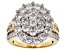 Pre-Owned White Cubic Zirconia 18k Yellow Gold Over Sterling Silver Ring 7.28ctw