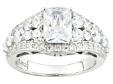 Pre-Owned Cubic Zirconia Silver Ring 5.00ctw (3.41ctw DEW)