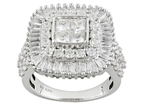Pre-Owned Cubic Zirconia Silver Ring 5.01ctw (3.14ctw DEW)