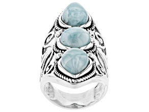 Pre-Owned Blue Larmar Sterling Silver Ring