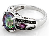 Pre-Owned Mystic Topaz ® With Orissa Alexandrite And Umba River Rhodolite ™ 5.17ctw Sterling Silver