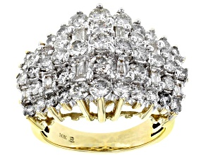 Pre-Owned Diamond 10k Yellow Gold Ring 3.00ctw