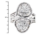 Pre-Owned Cubic Zirconia Silver Heart Ring 4.48ctw (3.57ctw DEW)