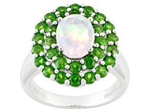 Pre-Owned Ethiopian Opal Sterling Silver Ring 2.72ctw
