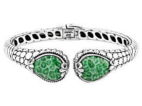 Pre-Owned Green Coral Silver Bracelet