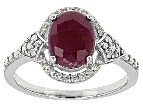 Pre-Owned Red indian Ruby Sterling Silver Ring 2.47ctw
