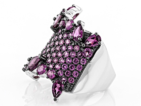 Pre-Owned Purple Rhodolite Sterling Silver Ring 4.66ctw