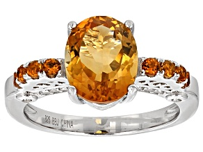 Pre-Owned Orange Madeira Citrine Sterling Silver Ring 2.70ctw