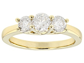 Pre-Owned White Diamond 14k Yellow Gold Ring 1.00ctw