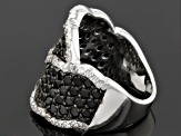 Pre-Owned Black Spinel Sterling Silver Ring 2.34ctw