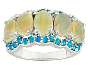 Pre-Owned Ethiopian Opal Sterling Silver Ring. 2.73ctw
