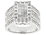 Pre-Owned Diamond Sterling Silver Ring 1.56ctw
