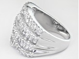 Pre-Owned Cubic Zirconia Sterling Silver Ring 4.20ctw