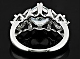 Pre-Owned White Cubic Zirconia Rhodium Over Sterling Silver Ring 3.86ctw