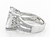 Pre-Owned Cubic Zirconia Silver Ring 16.14ctw